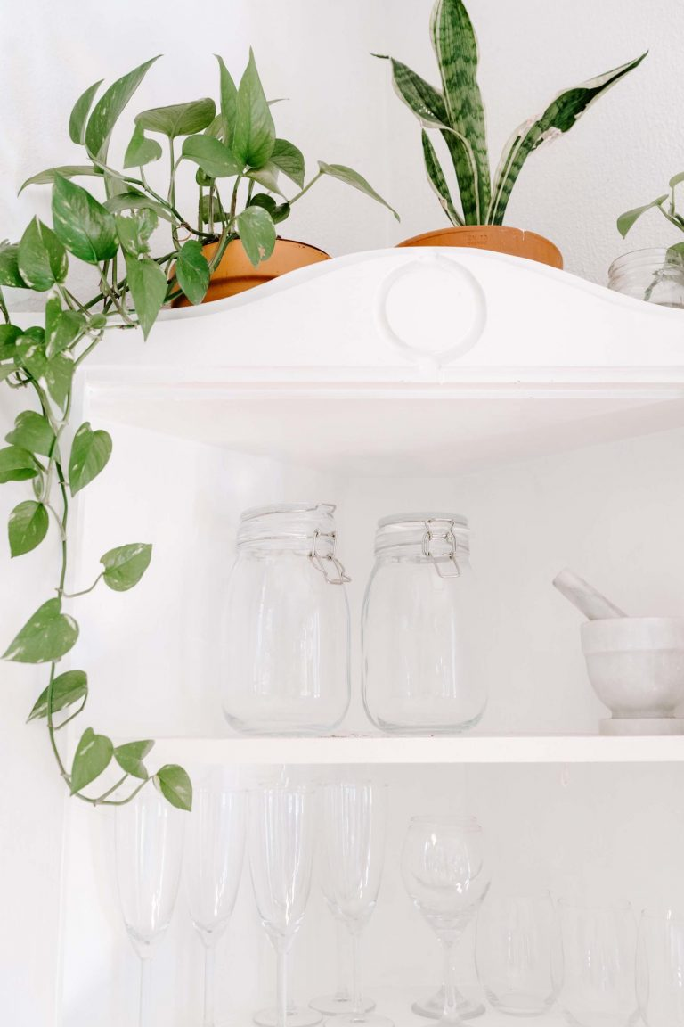 Using mason jars as storage for your dry goods